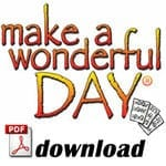 Make a Wonderful Day® – Vocal Melody Sheet Music (English)
