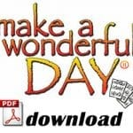 Make a Wonderful Day® – Vocal Sheet Music (English)